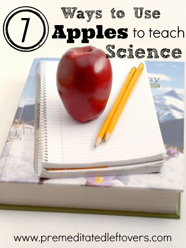 7 Ways to Use Apples to Teach Science- Are you looking for exciting ways to teach your kids about science? Grab some apples and give these activities a try.