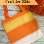 Hand Painted Candy Corn Treat Bag- Fill these easy and inexpensive candy corn bags with yummy candy or other fall treats. They are perfect for little ones!
