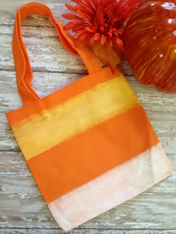 Hand Painted Candy Corn Treat Bag final