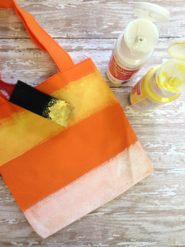 Hand Painted Candy Corn Treat Bag painting