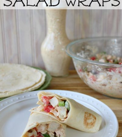 Chipotle Ranch Chicken Salad Wrap