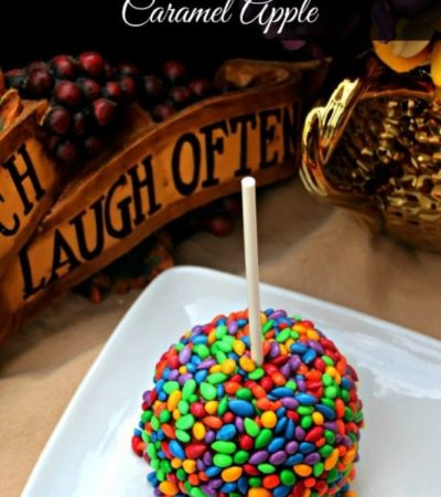 Chocolate Sunflower Seed Caramel Apples- These upscale caramel apples are not only yummy, but a fun and colorful treat to add to holiday parties this year.