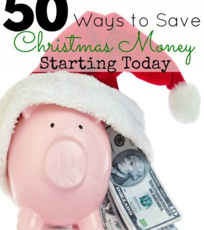 50 Ways to Save Christmas Money- Are you beginning to panic over not having enough money for Christmas gifts? Check out these 50 ways to start saving now!