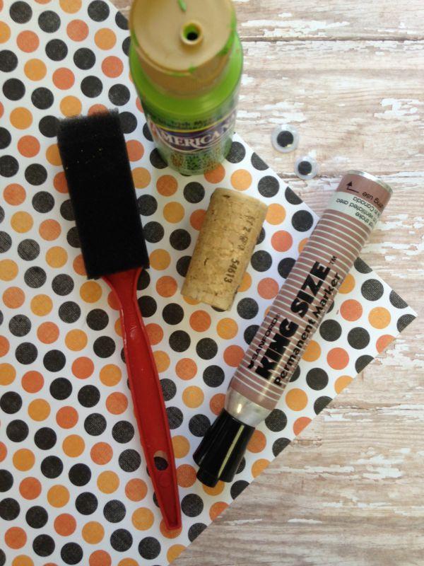 Halloween Cork Critters Craft for Kids materials