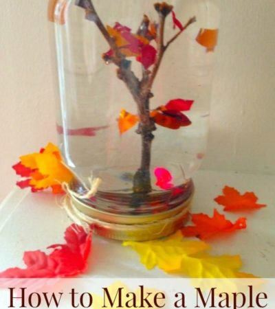 DIY maple leaf tree globe craft for kids