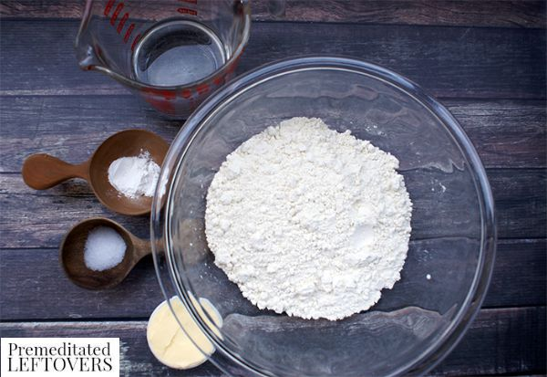 Homemade Flour Tortilla Recipe ingredients