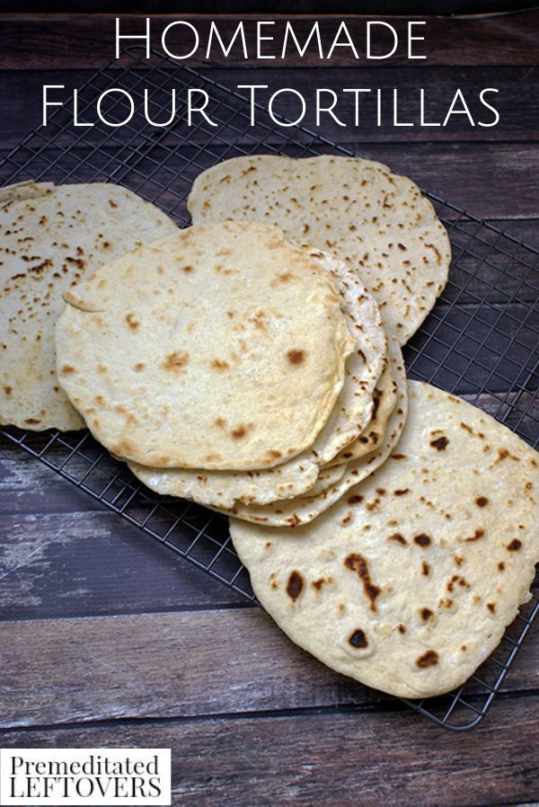 Homemade Flour Tortilla Recipe- This simple homemade tortilla recipe gives you a soft, moist, and flavorful tortilla that will rival any you've ever tasted!