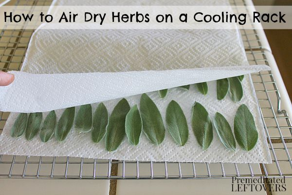 How to Air Dry Herbs on a Cooling Rack