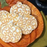 Iced Pumpkin Sugar Cookies-These cookies take a bit of preparation, but are a delicious and beautiful choice to create for your upcoming holiday events!