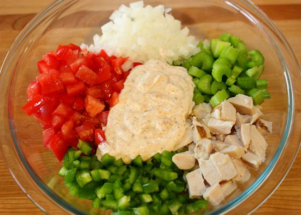 Ingredients for Chipotle Chicken Salad Recipe