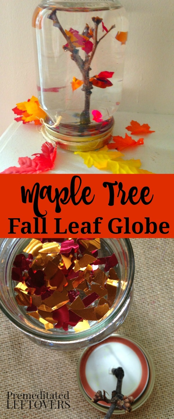 Maple Tree Fall Leaf Snow Globe Craft for Kids