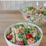 Meatless Ranch Pasta Salad + Dairy-Free Buttermilk Substitute