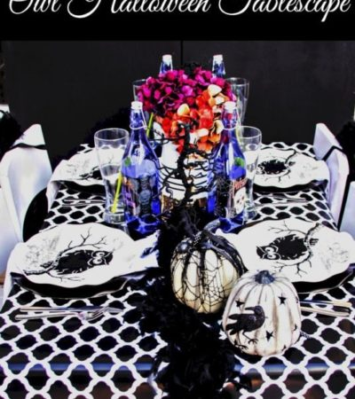 Owl Themed Halloween Tablescape- Here's a Halloween tablescape that is fun and classy. Your guests will be blown away by the festive details and owl charm.