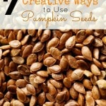 7 Creative Ways to Use Pumpkin Seeds- Be sure to save the seeds when carving pumpkins this year. They are nutritious and have more uses than you may think!
