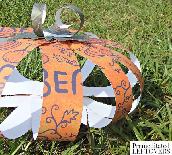 Scrapbook Paper Pumpkin Craft final