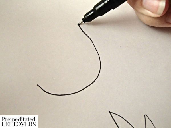Scrapbook Paper Pumpkin Craft drawing leaf cut out