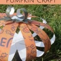 Scrapbook Paper Pumpkin Craft- This easy craft is a great way to decorate for a fall get together. Perfection is not necessary and every pumpkin is unique!