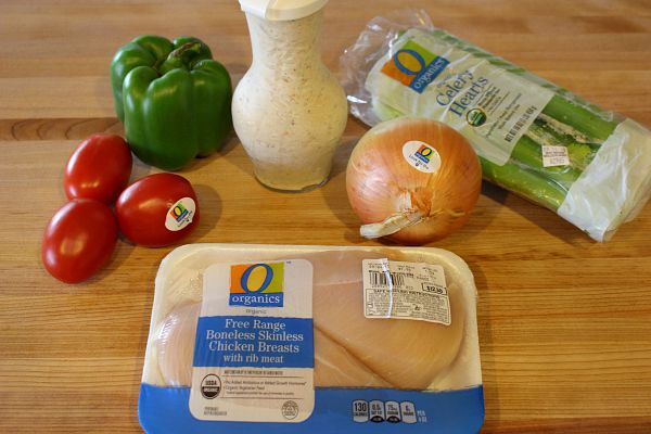 Using O Organics to make chicken salad recipe