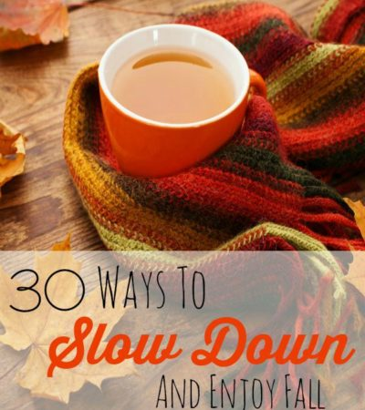Fall offers you many ways to slow down and enjoy all the sights and smells of the season. Savor them with these tips.