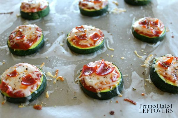 Broiled Zucchini Pizza Bites Recipe