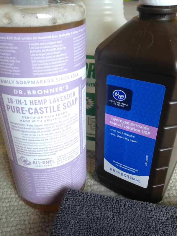 Homemade Carpet Stain Remover materials