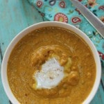 Ginger Pumpkin Soup- This homemade pumpkin soup will warm you on chilly evenings. Made with ginger and nutmeg, you will love the fall flavors in every bowl.