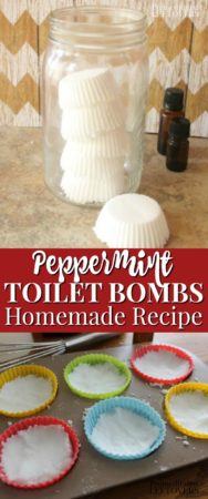 Use the homemade peppermint toilet bombs recipe to make toilet cleaning easier!