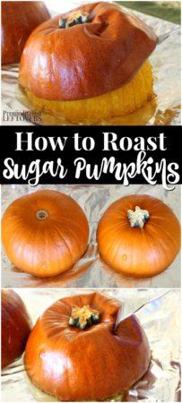 how to roast sugar pumpkins and make pumpkin puree