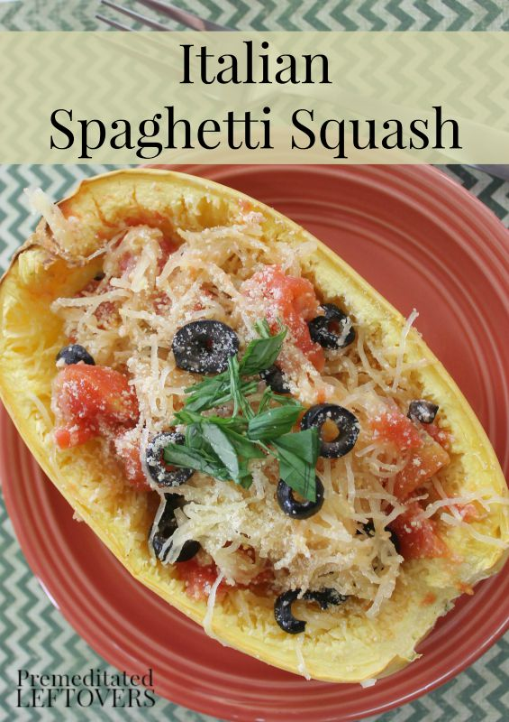 Italian Baked Spaghetti Squash Recipe - Have you used spaghetti squash in place of noodles? You won't miss the pasta in this tasty Spaghetti Squash Dinner Recipe!