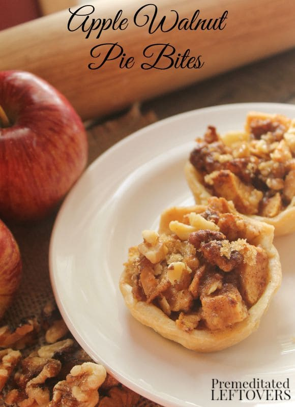 Mini Apple Pie Bites- These individual treats are a delicious way to enjoy apples this fall. Serve them as a dessert or toss one in your child's lunchbox.