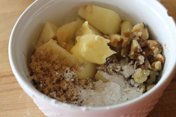 Mini Apple Pie Bites mixed filling