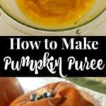 tutorial on how to make pumpkin puree using roasted sugar pumpkins