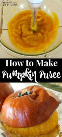 tutorial on how to make pumpkin puree using roasted sugar pumpkins