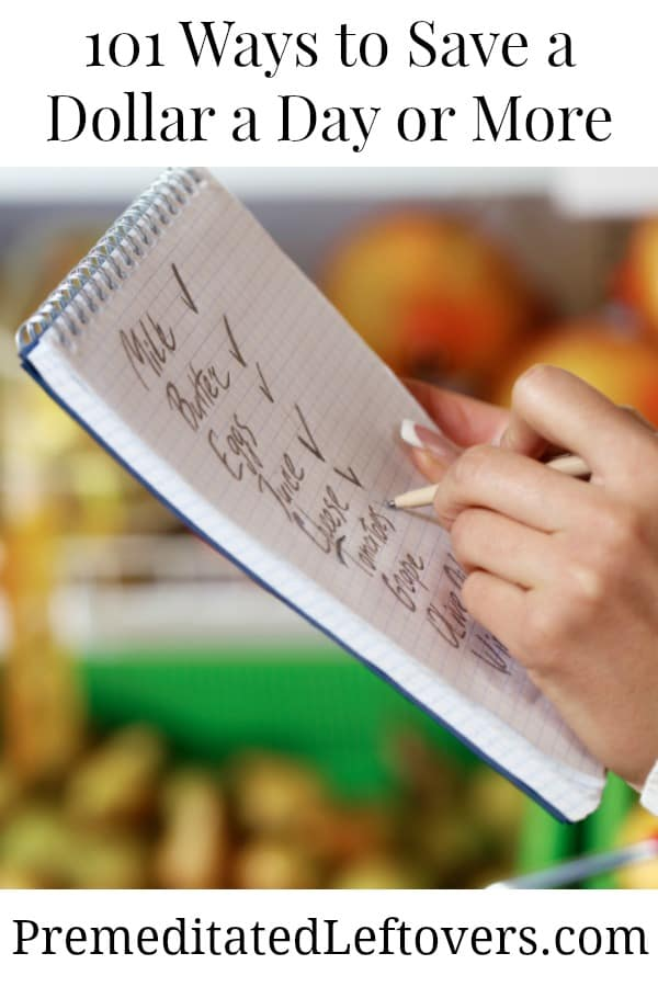 Save a dollar a day by grocery shopping with a list