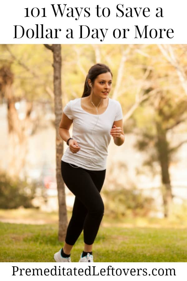 Save a dollar a day by jogging instead of going to a gym
