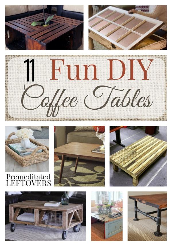 11 Fun Diy Coffee Tables