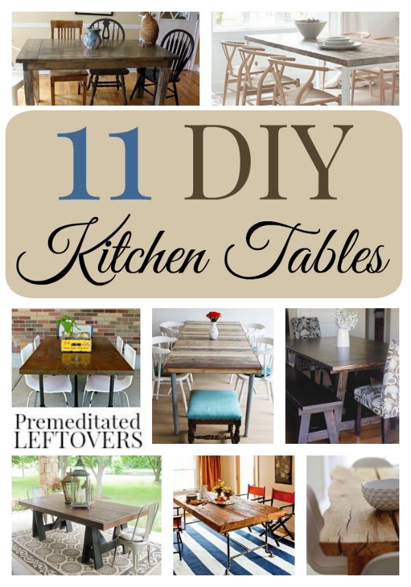 11 striking diy kitchen tables