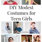 8 DIY Modest Costumes for Teen Girls- Are you looking for a fun yet modest costume for a teen girl this Halloween? These 8 DIY costumes are quite creative!