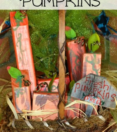 DIY Scrap Wood Pumpkins Tutorial
