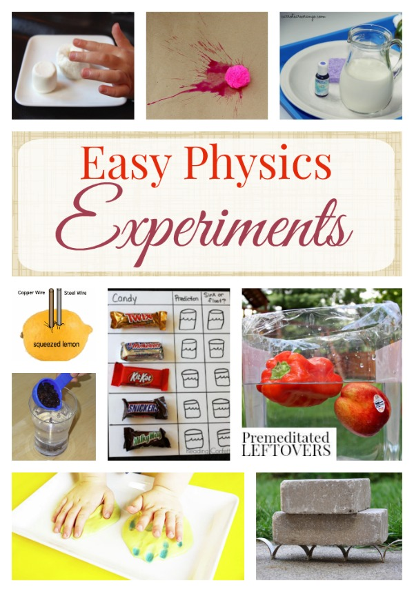 simple physics projects Projects related resources  purely experimental (ie, measuring the motion of a simple system) or numerical (ie, simulating a physical problem on computer) you may work in groups of up to 4 people each project will be graded according to its description of the physics underlying the experiment, design and execution of the experiment and.