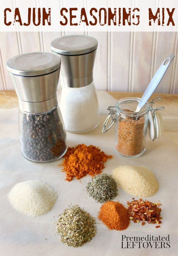 Do you love Cajun spiced food? Make your own Cajun Seasoning Mix with this recipe. This quick and easy Cajun Seasoning Recipe uses spices in your pantry.