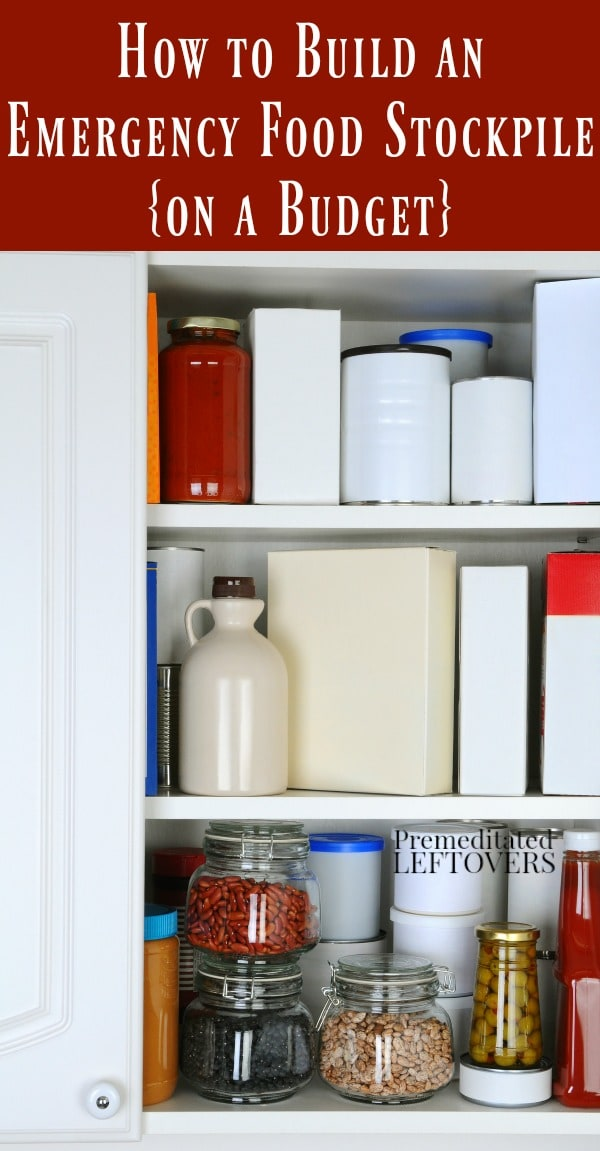 Are you building an emergency food stockpile? These frugal tips for How to Build an Emergency Food Stockpile on a Budget will help you stock up.