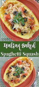 Easy Italian Baked Spaghetti Squash Recipe