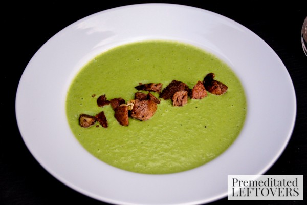 Pea & Pan Fried Corn Soup