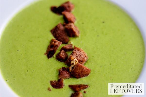 Pea & Pan Fried Corn Soup