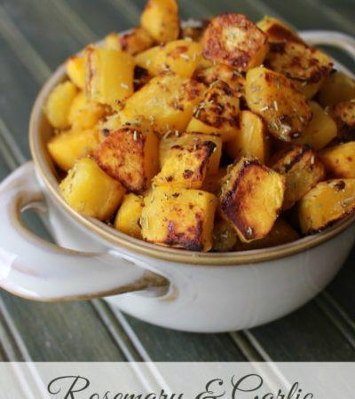 Roasted Acorn Squash Recipe with Rosemary and Garlic
