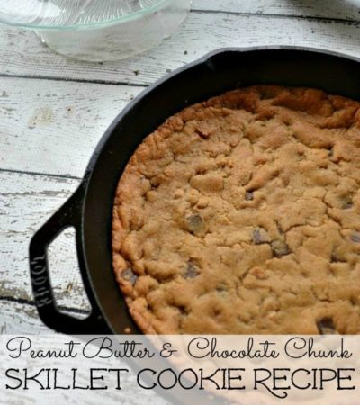 Skillet Peanut Butter Chocolate Chunk Cookie Recipe