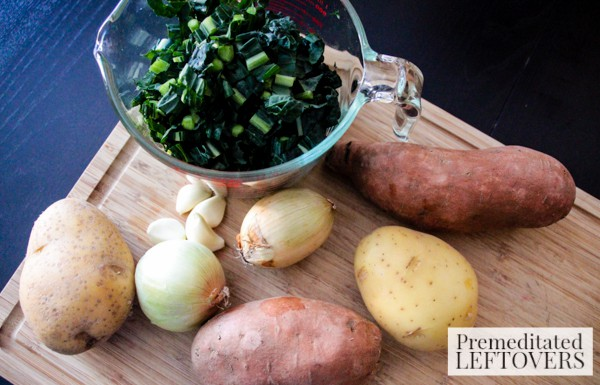 Sweet Onion and Potato Medley Skillet ingredients