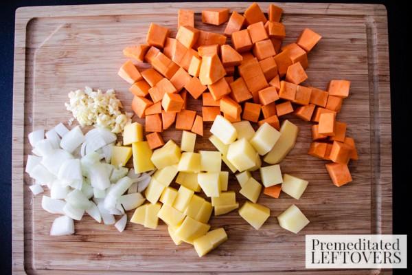 Sweet Onion and Potato Medley Skillet potatoes
