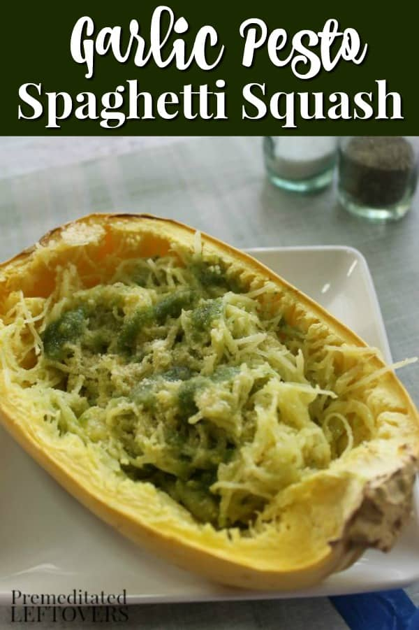 This delicious homemade garlic pesto spaghetti squash recipe is filling and healthy.